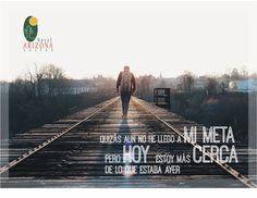 Quizás aun no he llego a mi meta, pero hoy estoy más cerca de lo que estaba ayer. #frasemotivadora #motivacion #cucuta
