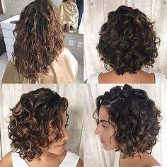 Resultado de imagen de short curly hair front and back