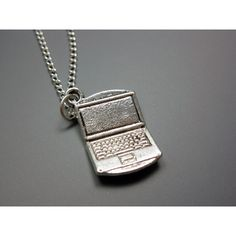 Laptop Necklace - stainless steel chain computer necklace geek... ($8) ❤ liked on Polyvore featuring jewelry, necklaces, stainless steel necklace, chain necklace, chains jewelry, stainless steel jewellery and stainless steel jewelry