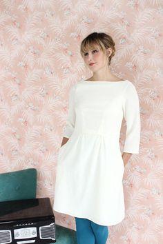 Peony, a bateau neck sheath dress pattern from Colette Patterns