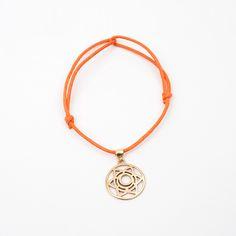 Gold Sacral Chakra Bracelet Orange by Mollie Jewellery