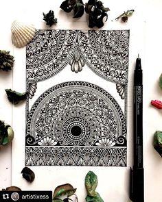 Mandala Art Therapy, Mandala Art Lesson, Mandala Doodle, Mandala Artwork, Mandala Painting, Watercolor Mandala, Doodle Art Drawing, Cool Art Drawings, Mandala Drawing