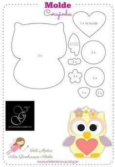 Felt Animal Patterns, Felt Crafts Patterns, Owl Patterns, Applique Patterns, Stuffed Animal Patterns, Owl Quilt Pattern, Quilt Square Patterns, Owl Crafts, Baby Crafts