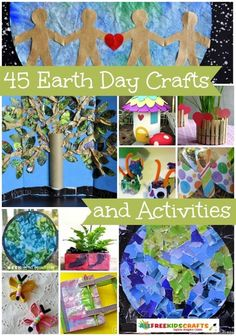 Celebrate Earth Day with 45 Earth Day Activities for Children and Earth Day Crafts for Kids - Education Ideas - Dinner Recipes Holiday Activities For Kids, Earth Day Activities, Holiday Crafts For Kids, Preschool Crafts, Preschool Activities, Recycling Activities For Kids, Earth Day Information, Mothers Day Crafts For Kids, Children Crafts