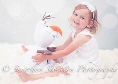 Disney's Frozen inspired photo shoot with Olaf by Jonathan Stockton Photography