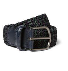 Anderson's3.5cm Woven Elasticated Belt