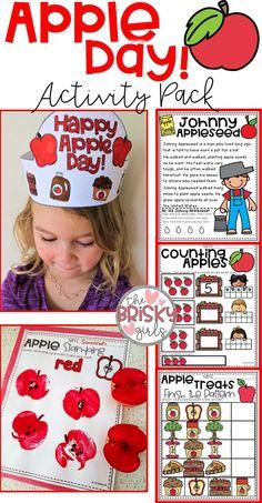 Apple Activities Kindergarten, First Grade Activities, Autumn Activities For Kids, Fall Preschool, Fall Crafts For Kids, Kindergarten Readiness, Homeschool Kindergarten, Homeschooling, First Grade Crafts