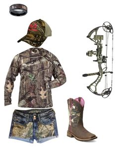"""Camo"" by kyleebrooker on Polyvore featuring Realtree, Rocky and Ariat"