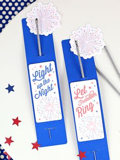 """Show all your guests that they shine brightly in your eyes with individual Americana sparkler sleeves. """"Meet the Maker"""": Celebration Shoppe – 4th of July 