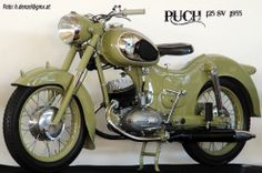 Puch 125 SV  1955 Classic Motors, Classic Bikes, Cool Motorcycles, Vintage Motorcycles, Honda, Steyr, Motorcycle Design, Classic Motorcycle, Scooters