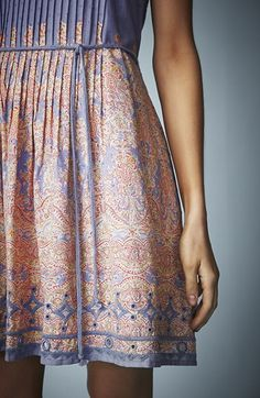 Cricut Inspiration - Using Your Cricut Explore Create A Stencil Of Your Own Design and Simply Stencil Lovely Patterns On a Solid Color Dress