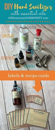 Germs are everywhere this time of year.  Stay well by using this Simple DIY hand sanitizer spray + free printable labels & recipe cards. Plus learn which essential oils are best for hand sanitizers wi