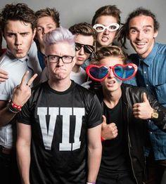 Alfie, Caspar, Tyler, Troye, Joe, Marcus, Louis