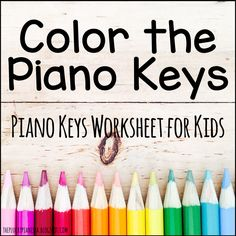 A fun, quick, and super easy coloring sheet for beginning students who are learning the letter names of the piano keys.
