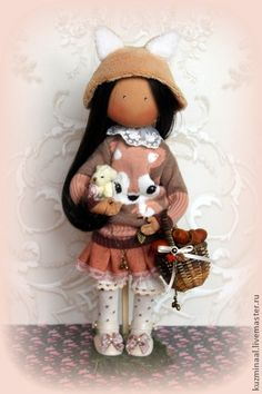 "Men handmade.  Fair Masters - Textile handmade doll ""LITTLE SQUIRREL""."