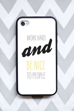 350f571693066e iphone 4 or iPhone 4s work hard and be nice by taraphotographics, $25.00  Design Case