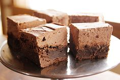 Mmmm. Mocha Brownies: Decadent brownies with mile-high mocha frosting!