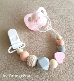 Candy Color Pacifier Clips Chain Holder Wood Silicone Beads Nipples Dummy Hol JD
