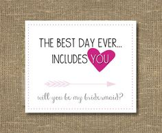 How to Ask Bridesmaid / Will You Be My Bridesmaid Funny / Will You Be My Maid of Honor - Cards. $4.00, via Etsy.