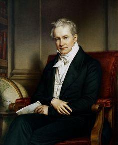 """""""Portrait Alexander Freiherr von Humboldt"""" (1843) von Joseph Karl Stieler (geboren am 1. November 1781 in Mainz, gestorben am 9. April 1858 in München), deutscher Maler und von 1820 bis 1855 Hofmaler des bayerischen Königs Ludwig des I."""