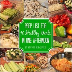Eat Healthy! {My Prep List for 10 Healthy Meals in One Afternoon}