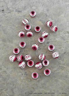 Pink Round 6mm Aluminum Beads                  by CedarCreekCanada, $2.49