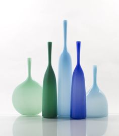 Assorted glass vases, Available from Evitavonni #emerald #colouroftheyear