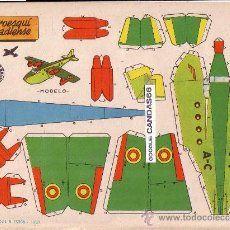 LOTE COMPLETO DE 8 RECORTABLES SERIE TRANSPORTE DE AYER Y HOY. CONBEL. 1990 (Ver fotos)