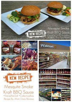 BBQ Cauliflower Sandwich;  BBQ Pork Sandwich; Great BBQ Recipe with New Recipe @Kraft BBQ Sauce from @Walmart   #FireUpTheGrill #CBias #Recipe #Ad