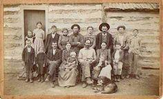 Oklahoma Pioneer Family c1885