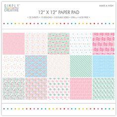 Simply Creative FSC Paper Pad 12x12 Make a Wish