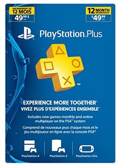 Sony - PSN Live Subscription Card 12 Month Membership for PS3/PS4/PSvita - http://astore.amazon.com/gamesandvideogames-20