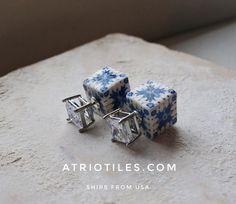 Portugal Antique Azulejo Tile Replica FRONT BACK Double by Atrio