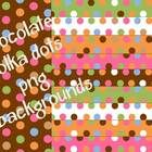 Chocolate Polka Dot backgrounds.  These match Dots on Chocolate!  $3.50