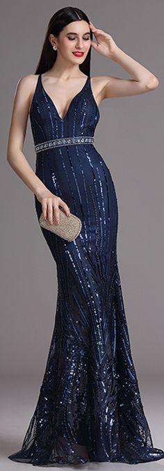 eDressit Sexy Blue Sparkling Formal Gown Evening Dress