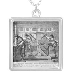 french printing press necklace    ========================== #printingpress #printingpressnecklace #printing #necklace