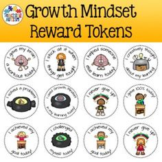 FREE Groth Mindset Reward Tokens!   Reward your students for helping themselves learn!    Find this and other free resources at: