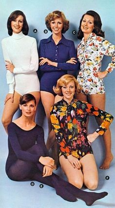 The 1970's Body Suit - These were horrible to wear! Just ask any woman who had to use the restroom while wearing one!
