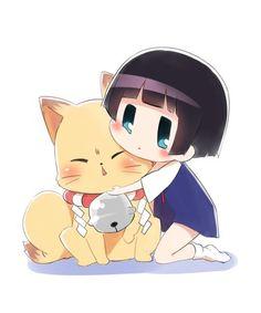 Kokkuri-san and Ichimatsu Kohina. Gugure! Kokkuri-san. #anime