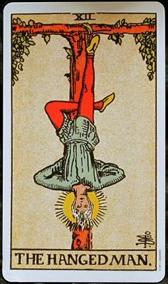 Featured Tarot Card The Hanged Man from the Rider Waite Deck The Hanged Man reflects a need to suspend action, and as a result, a period of indecision may be indicated. Decisions or actions that need. All Tarot Cards, Vintage Tarot Cards, Hanged Man Tarot, The Hanged Man, Tarot Rider Waite, Tarot Waite, Tarot Significado, Celtic Tribal, Cards On The Table