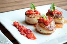 Trinidad Scorpion Chili Scallops Recipe  Trinidad Scorpion Chili Scallops are sweet, tender and delectable .This is a gourmet dish with a Chili Hit. See recipe at http://www.firehousechilli.com/firehousechilliweb1_029.htm