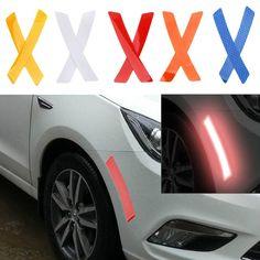 uxcell 6pcs Yellow Plastic Arrow Shape Vehicle Car Reflector Reflective Plate Sticker