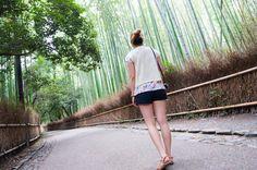Entering the Arashiyama Bamboo Forest in Kyoto