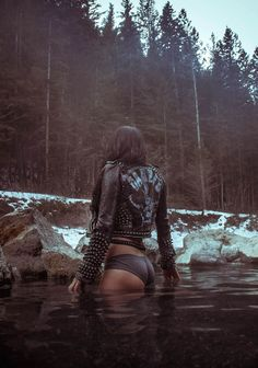 Leather in the lake