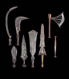 Africa   Set of knives and weapons from DR Congo   Metal and wood