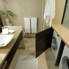 Basement bathroom and Laundry room.  Best use of space that I have seen so far.  Love it!