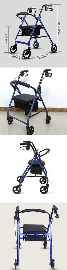 Walkers and Canes: Steel Rollator Walker Drive Medical 4 Wheels 300Lbs With Curved Back Soft Seat -> BUY IT NOW ONLY: $64.99 on eBay!