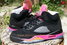 FLORIDIAN 440892-067 AIR JORDAN V RETRO Black/Pink For Sale