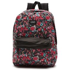 "The Deana II Backpack has a 73% cotton and 27% polyester floral printed shell with 100% polyester lining. It has a zippered main compartment, padded, adjustable straps, carry handle, a 22-liter capacity, metal logo zip pulls with faux leather trim and a leather logo patch. (L 16 3/4"" x W 12 3/4"" x D 4 7/8"")"