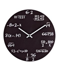 Best gift for a math teacher ever! Math Quiz Wall Clock by Modway on @zulily today!